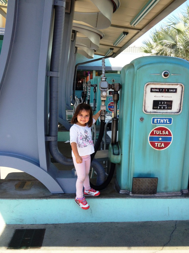 Billie at Cars Land